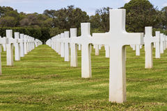 American  cemetery Royalty Free Stock Image