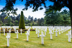American Cemetery Normandy. Royalty Free Stock Photography