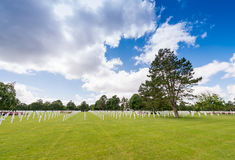 American cemetery in Normandy, France Royalty Free Stock Photography