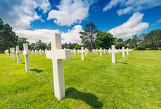 American cemetery in Normandy, France Royalty Free Stock Images
