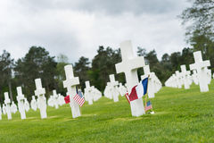 American Cemetery at Normandy Royalty Free Stock Images