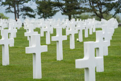American Cemetery at Normandy Stock Images