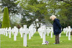 American Cemetery at Normandy Royalty Free Stock Photos