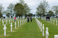 American Cemetery at Normandy Royalty Free Stock Photo