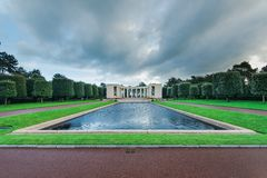 American Cemetery in Normandy Monument,France royalty free stock photos