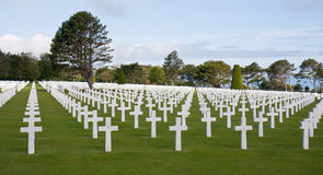 American cemetery at Omaha Beach, Normany France Royalty Free Stock Photos