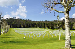 American Cemetery Outside Florence Royalty Free Stock Photos