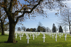 American Cemetery in St-James Royalty Free Stock Photos