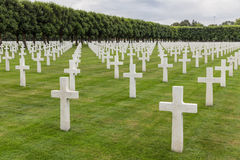 American cemetery WW1 soldiers who died at Battle of Verdun Royalty Free Stock Photos