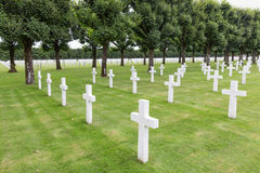 American cemetery WW1 soldiers who died at Battle of Verdun Royalty Free Stock Photography