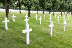 American cemetery WW1 soldiers who died at Battle of Verdun Royalty Free Stock Images