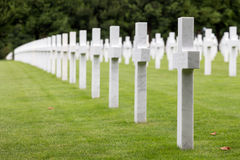 American cemetery WW1 soldiers who died at Battle of Verdun Royalty Free Stock Photo
