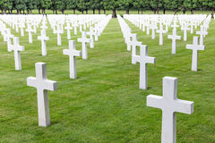 American cemetery WW1 soldiers who died at Battle of Verdun. American cemetery near Romagne-sous-Faucon for First World War One soldiers who died at Battle of Stock Photography