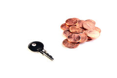 American cents Stock Photography