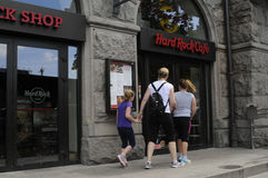 AMERICAN CHAIN HARD ROCK CAFE RESTAURANT Stock Photography