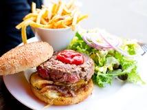 American cheese burger Royalty Free Stock Image