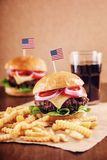 American Cheese Burger with French Fries and Cola Royalty Free Stock Images
