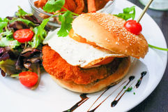 American cheese chicken burger Stock Images