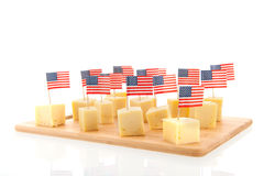 American cheese Royalty Free Stock Photography
