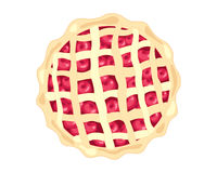 American cherry pie Stock Photo