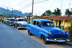 American Chevrolets and Cadillacs in Cuba Stock Image
