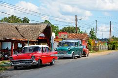 American Chevrolets and Cadillacs in Cuba Royalty Free Stock Photo