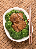 American chinese beef and broccoli Stock Photo