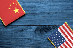 American and Chinese flag Stock Image