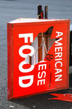 American Chinese Food Sign Stock Photos