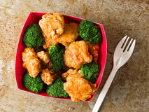 American chinese takeout general tso chicken Royalty Free Stock Photo