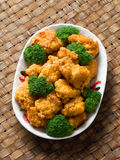 American chinese takeout general tso chicken Royalty Free Stock Photography