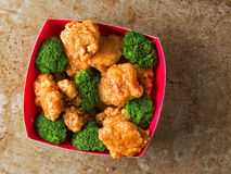 American chinese takeout general tso chicken Stock Images