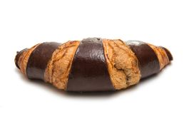 American chocolate croissant isolated Stock Images