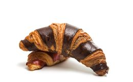 American chocolate croissant isolated Royalty Free Stock Images