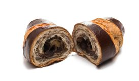 American chocolate croissant isolated Royalty Free Stock Photo