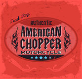 American Chopper Motorcycle badge Royalty Free Stock Photo