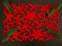 American Christmas placemat with decoration Stock Image