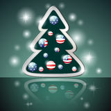 American Christmas tree Royalty Free Stock Images