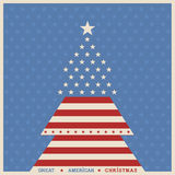 American christmas tree poster background Royalty Free Stock Image