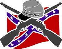 American Civil War. Confederacy. Stencil Stock Photo