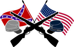 American Civil War. Stencil.  illustration Royalty Free Stock Photography