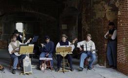 American Civil War Era Musicians Performing Royalty Free Stock Photography