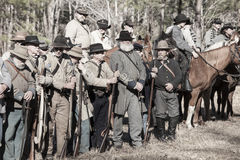 American civil war reenactment Stock Photography