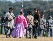 American Civil War Reenactors Stock Photo