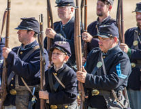 American Civil War Reenactors Stock Image