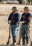 American Civil War Reenactors Stock Photo