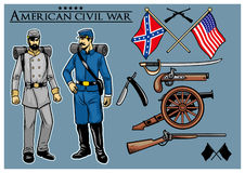 American civil war  set Royalty Free Stock Images