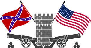 American civil war Royalty Free Stock Image