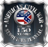 American Civil War 150th Anniversary Badge Stock Photo