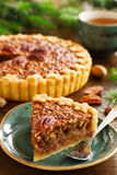 American classic cake with pecans Royalty Free Stock Photography